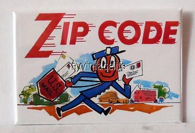 Mr  Zip Code  2  X 3  Fridge Magnet Art Vintage Inspired