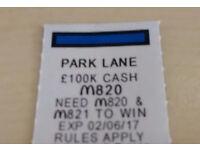 McDonald's monopoly PARK LANE sticker