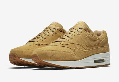 2018 Nike Air Max 1 Premium SZ 10.5 Flax Gum Medium Brown 875844-203