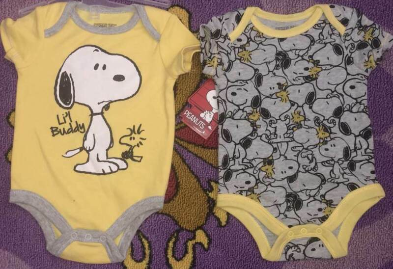 PEANUTS SNOOPY BABY 2 PIECE SET SIZE 0/3 3/6 6/9 12 18 24 MONTHS NEW!