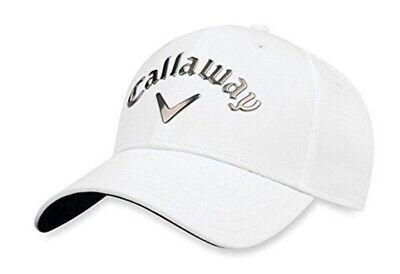 7eab358d1f3c1 Callaway Golf 2018 Liquid Metal Adjustable Cap Hat - White GunMetal