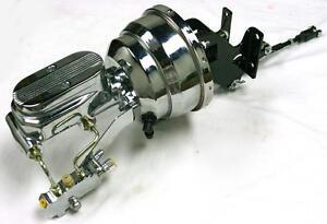 1967-72 Chevy c10 Truck Suburban Chrome Brake Booster Master Cylinder DISC DRUM