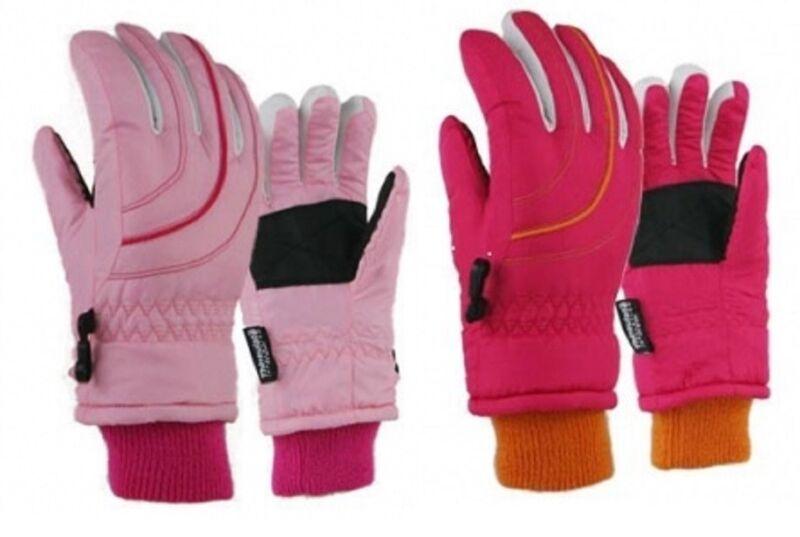 Girls Juniors Ski Snow Winter Gloves Waterproof NWT 7 - 16 Years NWT #20216 Pink