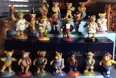 Halcyon Days Teddy Bear Collection Complete Set Of 19 Dated 1993-2011 Mint Boxed