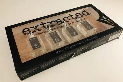 Extracted Women's Perfume Set by Preferred Fragrance, (4) .5 fl oz bottles, New! - Gift Set Perfume Extract