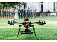 Wedding and event drone photography.