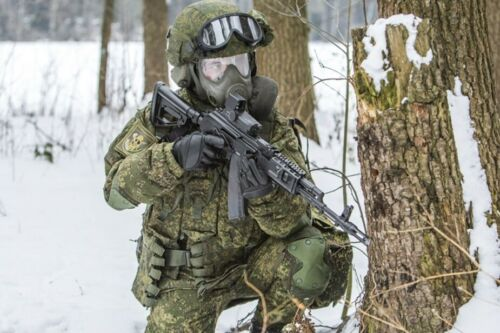MOST MODERN Russian Army Ratnik panoramic PMK-4 gas mask with drinking system