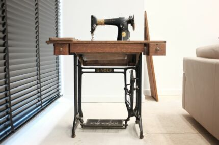 Vintage Singer Treadle 201K Sewing Machine and Original Cabinet Camberwell Boroondara Area Preview