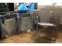 BN 4 Brown Folding Chairs Picnic/Camping