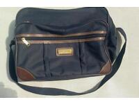 Sunrise blue and brown shoulder sports bag