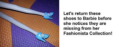 Rubbish quality clothing and shoes stolen from Barbie. And an accident on the glitter line.