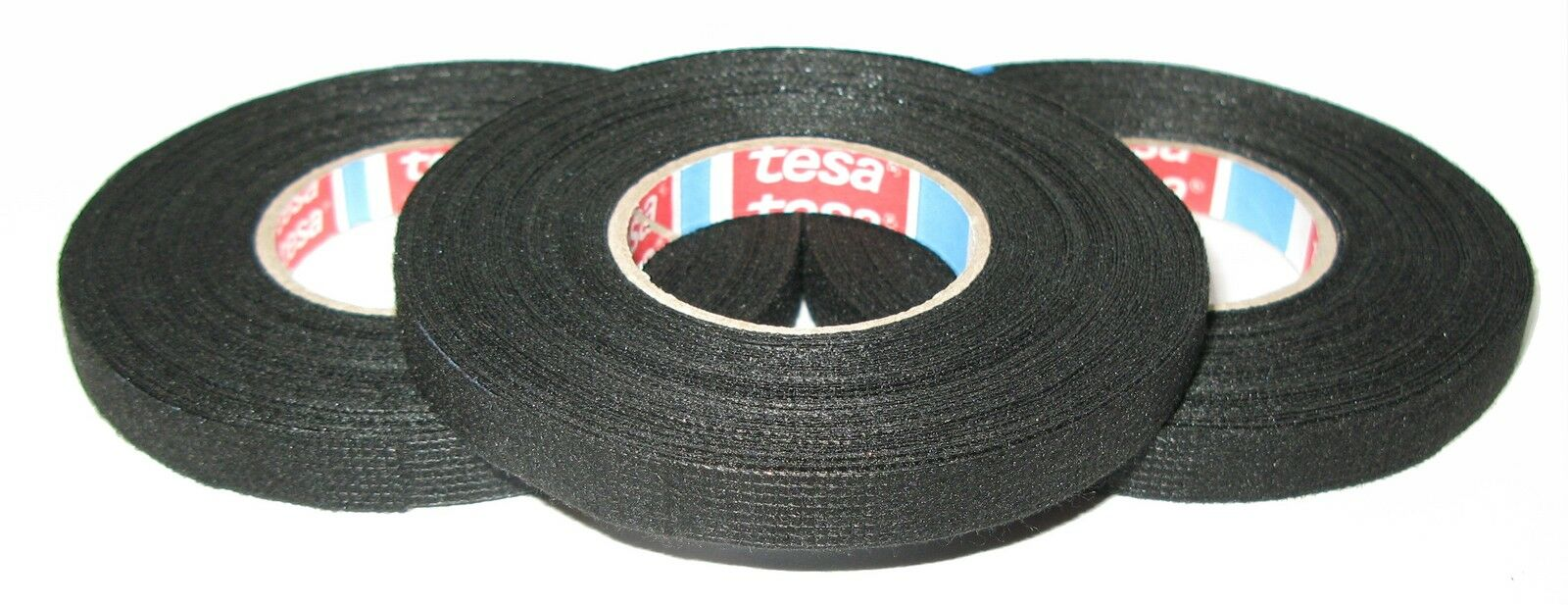 Vlies 51608 15mm x 25m Textilband Tape Klebeband MwSt 4x TESA kfz Gewebeband m