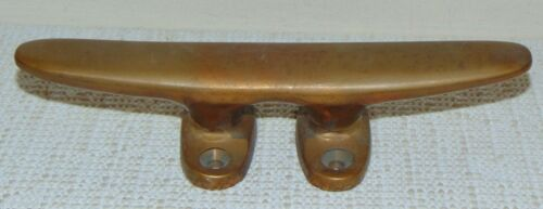 """8"""" Solid Bronze Boat Cleat Vintage Antique Very Nice"""