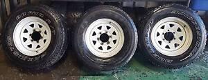 3x White Sunraysia Rims 16 x 8 (camper trailer) Lawnton Pine Rivers Area Preview