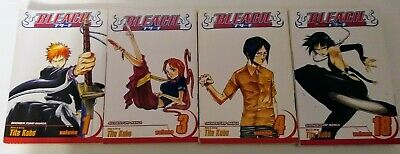 Bleach Manga book lot of 4 books,#1,3,4,18,Shonen Jump,Tite Kubo