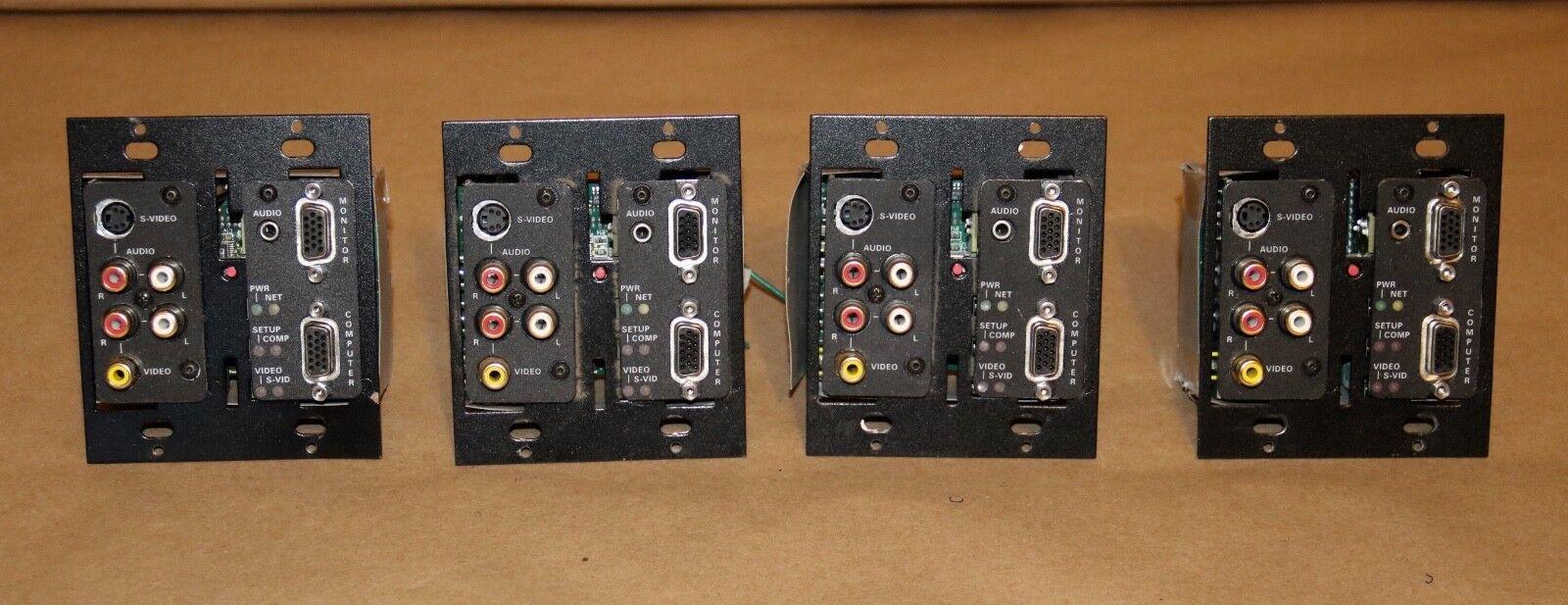 Crestron Electronics QM-WMC Quickmedia Wall Plate Media Center. Lot of 4