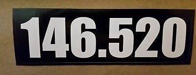 Vinyl Bumper Sticker 146 520 Amateur Ham radio national