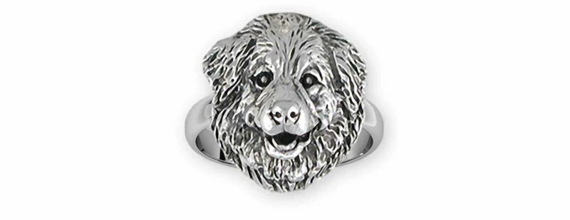 Great Pyrenees Jewelry Sterling Silver Handmade Great Pyrenees Ring  GPR31X-R