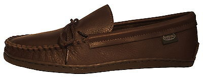 Mens Molded Sole Cowhide Leather Moccasins Cushion Insoles Size 7-13 Made in USA ()