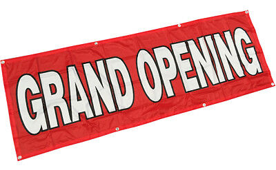 Grand Opening Banner Sign Vinyl Alternative 2x6 Ft - Fabric Rb