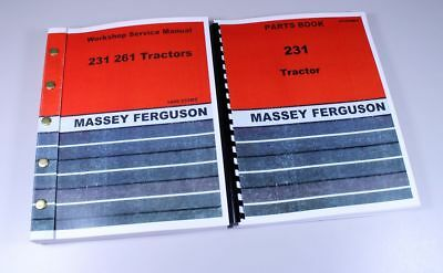 Massey Ferguson 231 Tractor Service Repair Manual Parts Catalog Overhaul Shop Bk