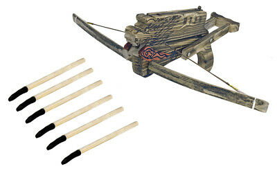 Wooden Dragon Crossbow with Arrows Toy Weapons Cosplay Costume Prop Theater
