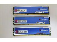 Kingston HyperX Blu RAM 6GB (3x2GB) DDR3