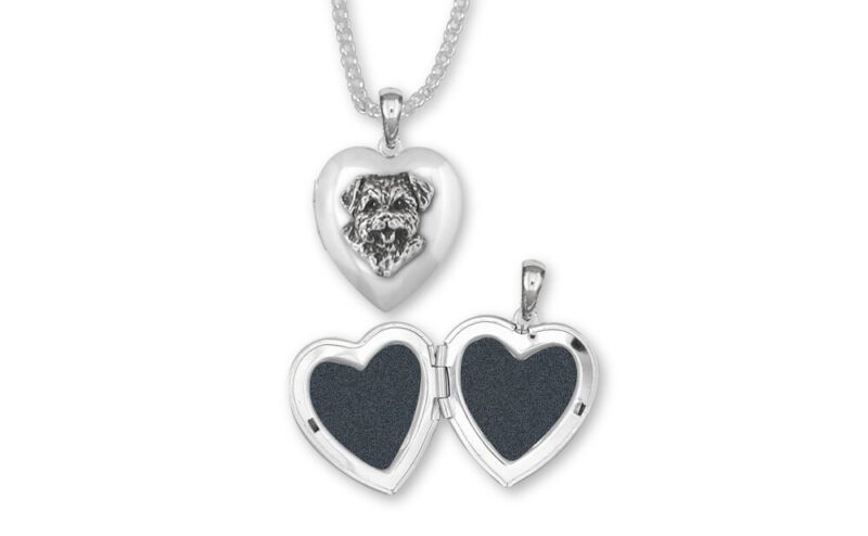 Norfolk Terrier Photo Locket Jewelry Sterling Silver Norfolk Terrier Charms And