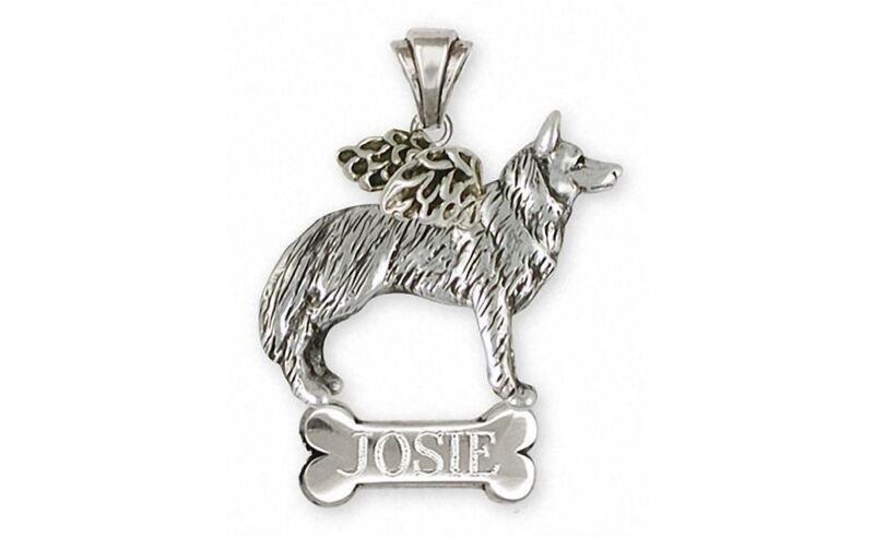 Siberian Husky Angel Pendant Jewelry Sterling Silver Handmade Dog Pendant SH20-A