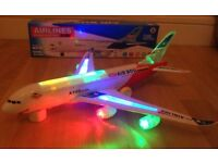 BRANDE NEW AIRBUS A380 ELECTRIC KIDS BUMP & GO TOY WITH FLASHING LIGHTS AND SOUNDS £5 EACH