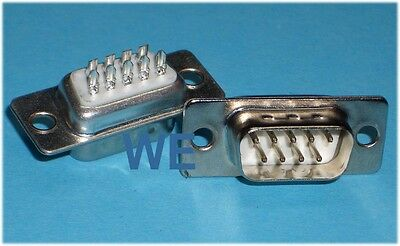 10 Stück Sub-D-Stecker 9-polig Lötkelch / SUBD