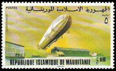 1976 MAURITANIA Stamp - 75th Anniversary of Zeppelin Airship B1o