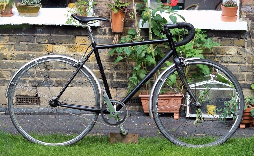 single speed commuter road bike with 53cm steel frame and. Black Bedroom Furniture Sets. Home Design Ideas