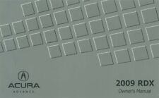 2009 Acura RDX Owners Manual User Guide Reference Operator
