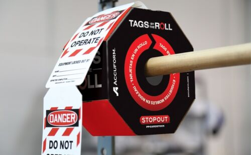 OSHA Danger Tags By-The-Roll: Out Of Service, TAR118, 100 Tags