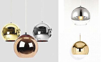 Chrome Glass Ball Ceiling Pendant Light Metallic Shade E27 (Mirror Ball Lights)