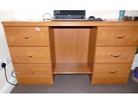 Workstation Computer Laptop Desk with 6 drawers