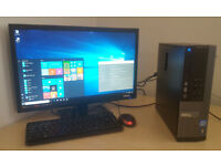 Dell PC Computer Desktop Intel i3 3.30Ghz 4GB memory 250GB HD DVD RW Win 10 Tower Only