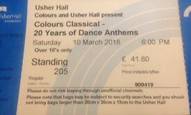 X2Colours Classical standing tickets
