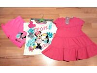Brand New Dress and Disney's Set of T-shirt and Shorts
