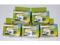 5 x SHINING BUDDY LATEST HALO FACED LED HEAD LAMPs RED & WHITE LIGHT WHITE GREEN POWERFUL HEADLIGHTS