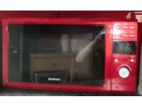 Goodmans microwave oven Red