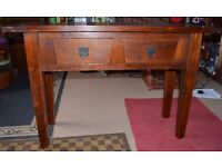 Solid vintage wooden table (for small or large room)