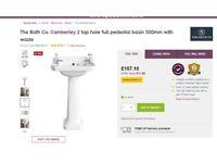The Bath Co. Camberley 2 tap hole basin 500mm: