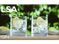 NEW - LSA International Gin Tumbler 310ml Clear x 2