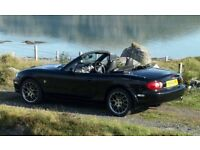 MAZDA MX5 FOR SALE. Special Edition Euphonic 2004. 60000 miles. Good condition. Taxed & MOTd