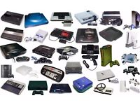 Looking for any consoles you might have, get in touch, cash ready!