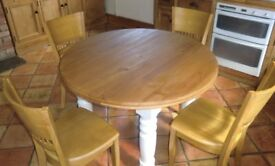 Pine Kitchen Dining Table And Chairs