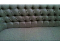 Brand new! Upholstered 3 seater bench with genuine leather for amaizing price.
