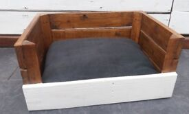 Reclaimed Wood Dog Bed Crate